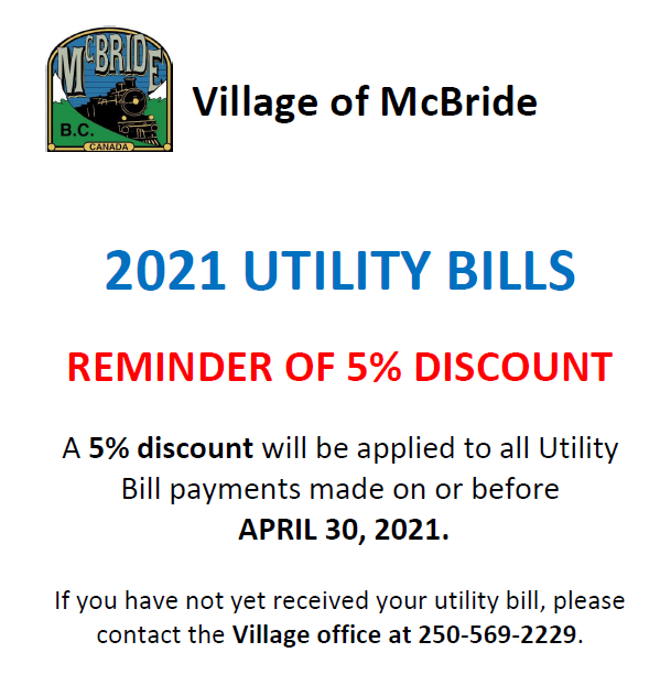 Utility Bills Discount Reminder